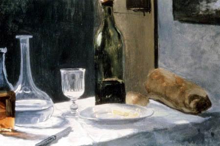 Claude Oscar Monet - Stilleben mit Flaschen