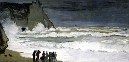 Claude Oscar Monet - Stürmisches Meer bei Étretat