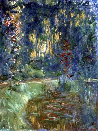 Claude Oscar Monet - Teichwinkel in Giverny