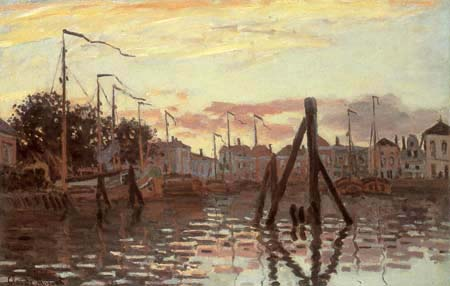 Claude Oscar Monet - The port at Zaadam