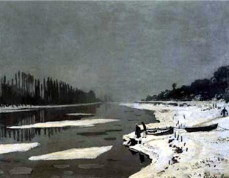 Claude Oscar Monet - Treibeis auf der Seine bei Bougival
