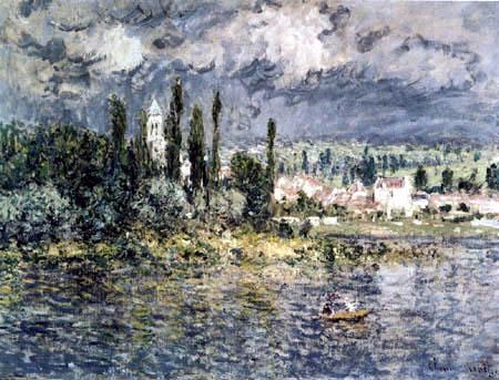 Claude Oscar Monet - Gewitter über Vetheuil