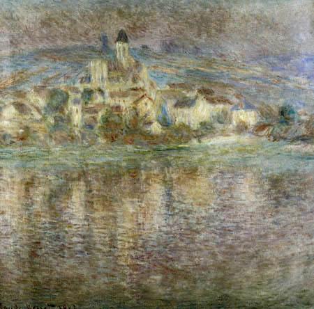 Claude Oscar Monet - Vetheuil im Sonnenuntergang