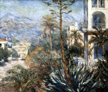 Claude Oscar Monet - Villen in Bodighera