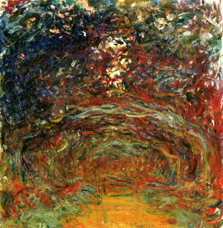 Claude Oscar Monet - Weg der Rosen in Giverny