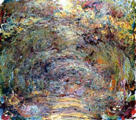 Claude Oscar Monet - Der Rosenweg im Licht und Schatten