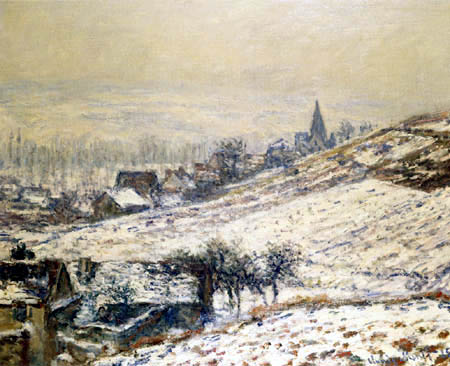 Claude Oscar Monet - Winter in Giverny