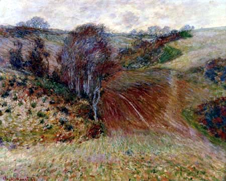Claude Oscar Monet - Winterlandschaft bei Étretat