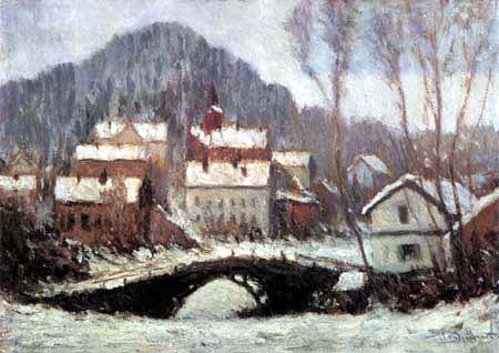 Claude Oscar Monet - Winter in Sandviken, Norwegen