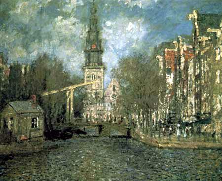 Claude Oscar Monet - Zuiderkerk in Amsterdam
