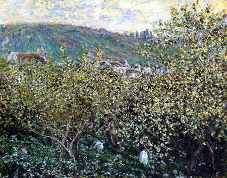 Claude Oscar Monet - Blühende Bäume bei Vétheuil