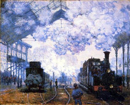 Claude Oscar Monet - La estación Saint-Lazare en París