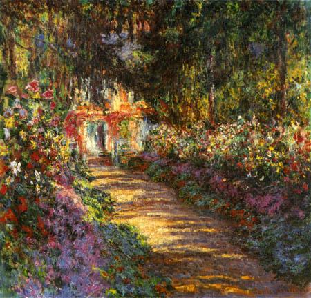 Claude Oscar Monet - Der blühende Garten