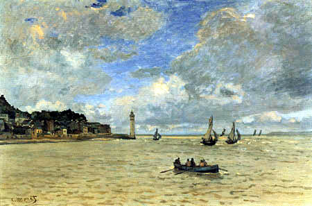 Claude Oscar Monet - The Lighthouse at Honfleur