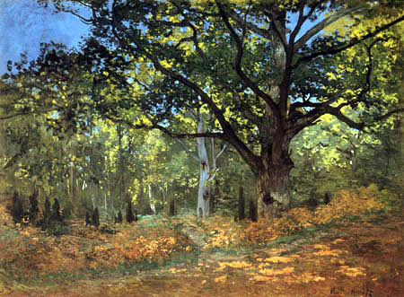 Claude Oscar Monet - The Oak Tree in Bas-Bréau