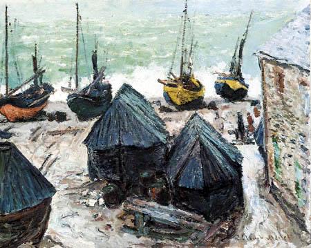 Claude Oscar Monet - Boats in Winter, Etretat