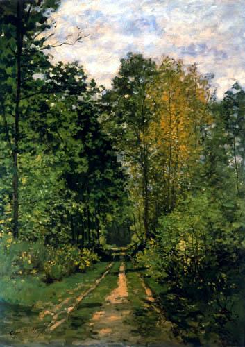 Claude Oscar Monet - Der Waldweg
