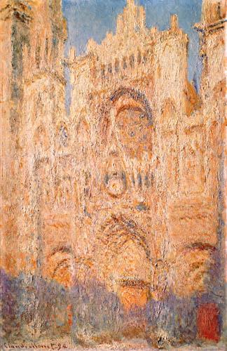 Claude Oscar Monet - Die Kathedrale von Rouen, Mittags