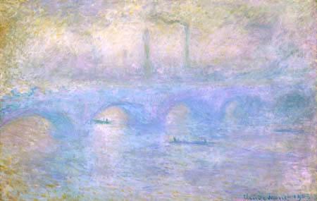 Claude Oscar Monet - Waterloo Brücke im Nebel