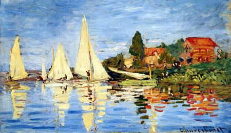 Claude Oscar Monet - Régate à Argenteuil
