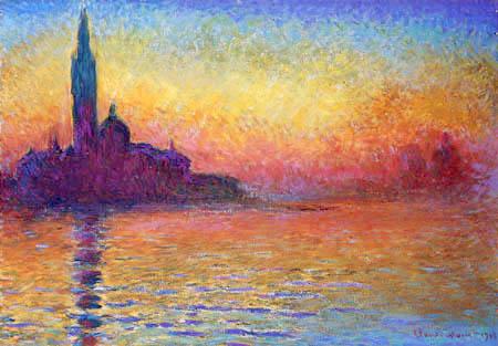 Claude Oscar Monet - Sonnenuntergang in Venedig, Saint-Georges Majeur