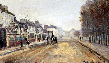Claude Oscar Monet - The Boulevard Héloïse in Argenteuil