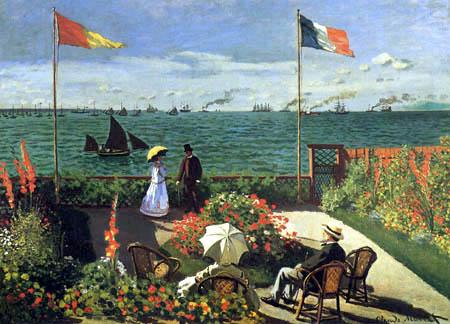 Claude Oscar Monet - Terrace on the Sea Shore, Sainte-Adresse