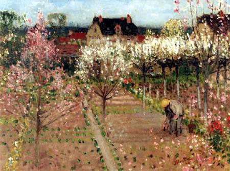 Pierre Eugène Montézin - Der Gärtner im Garten in Veneux Les Sablons