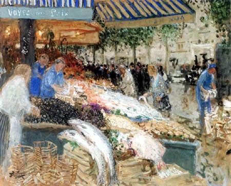 Pierre Eugène Montézin - Le marché aux poissons