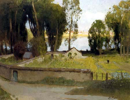 Pierre Eugène Montézin - Landschaft bei Fontainebleau