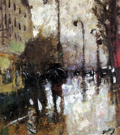Pierre Eugène Montézin - Pluie à Neuilly