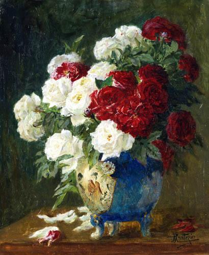 Pierre Eugène Montézin - Vase with Roses