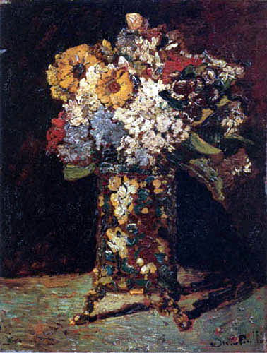 Adolphe Joseph Thomas Monticelli - Still life with Flowers