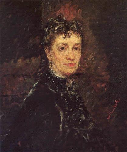 Adolphe Joseph Thomas Monticelli - Portrait of Madame René