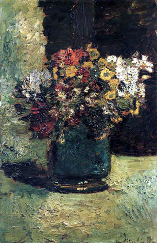 Adolphe Joseph Thomas Monticelli - Flowers in a vase