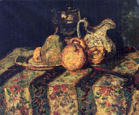 Adolphe Joseph Thomas Monticelli - Stilleben auf einer Tischdecke