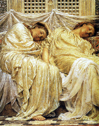 Albert Joseph Moore - Sleeping girls