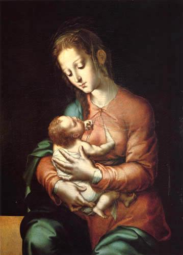 Luis de Morales (El Divino) - La Vierge avec l'enfant