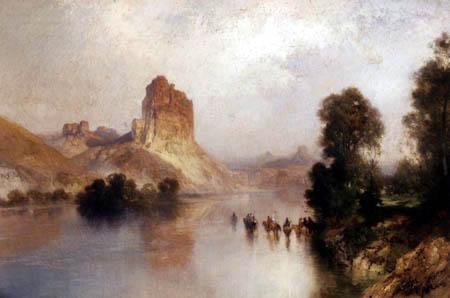 Thomas Moran - Castle Rock, Green River, Wyoming