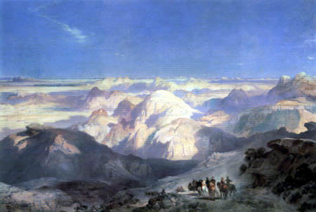 Thomas Moran - The Badlands of Dakota