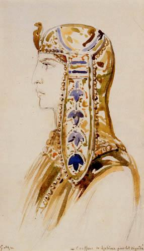Gustave Moreau - Sphinx Kopfschmuck