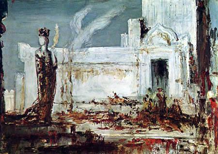 Gustave Moreau - Helena en la puerta del hierro