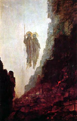Gustave Moreau - Los ángeles de Sodom