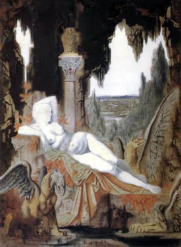 Gustave Moreau - La hada con agarres, inconcluso