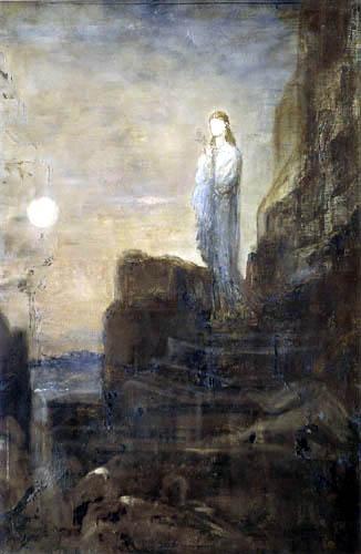 Gustave Moreau - Helene en los terraplenes de Troy
