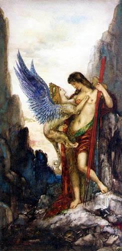 Gustave Moreau - Edipo y la Esfinge