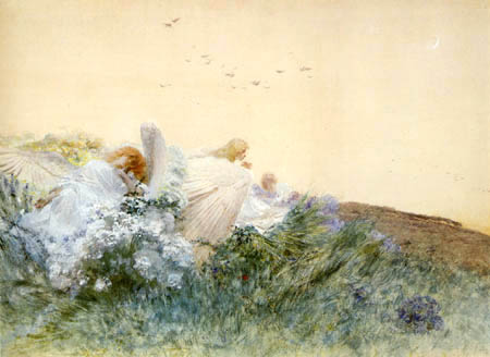 Domenico Morelli - The love of the angels, Gli amori degli angeli