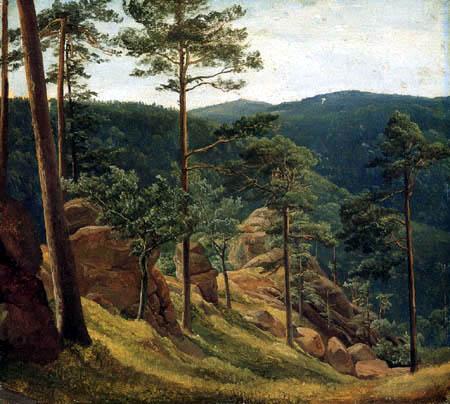 Christian Morgenstern - View of Mount Brocken