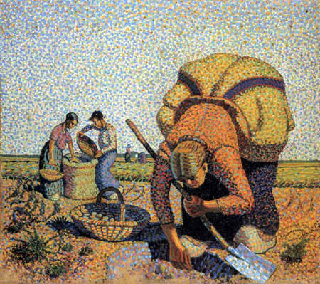 Wilhelm Morgner - Potato harvest