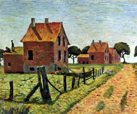 Wilhelm Morgner - Red Houses